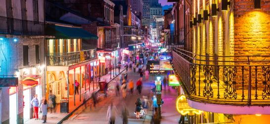 Bourbon Street in the evening