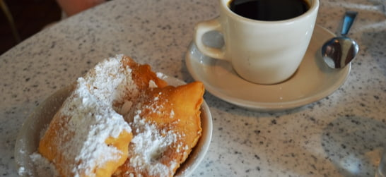Cafe du Monde coffee and beignets