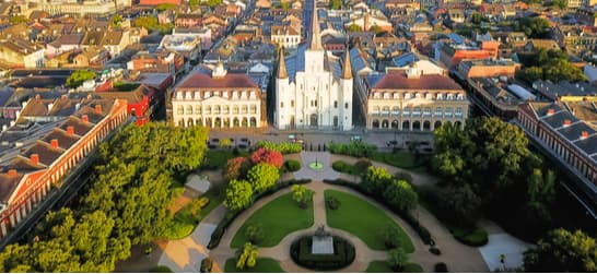 aerial view of Jackson Square