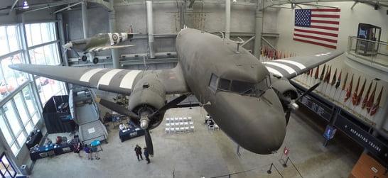 National WWII Museum plane exhibit