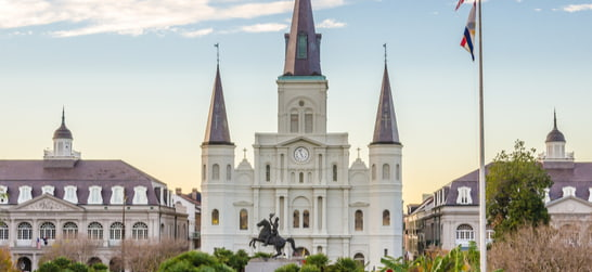 St. Louis Cathedral, The Cabildo and The Presbytere